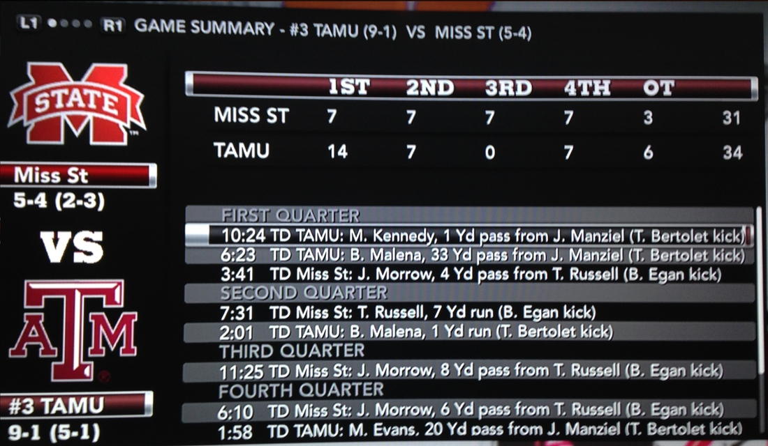 MSU vs. Texas A&M NCAA Football 2014