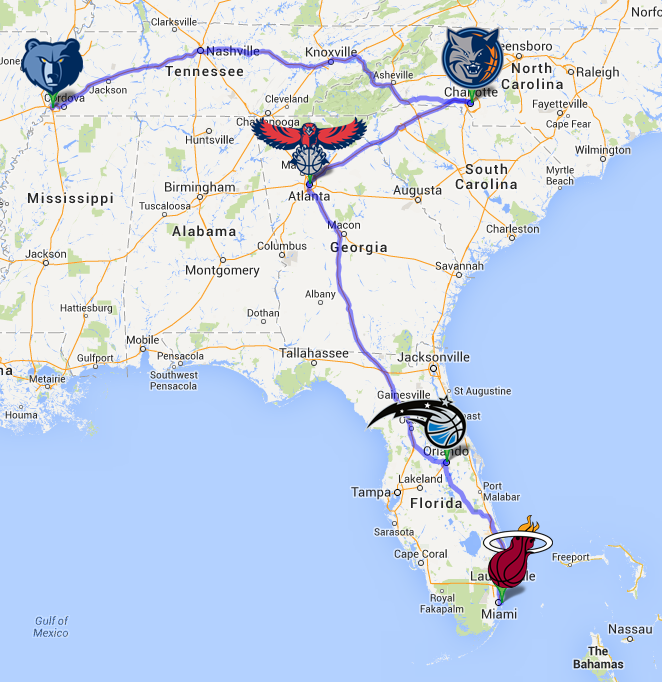 December_road_trip_-_mia_orl_ala_cha_mem_map