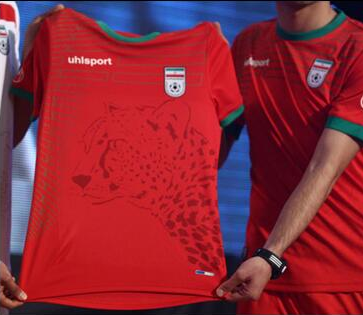 Iran's World Cup jerseys have a cheetah on them