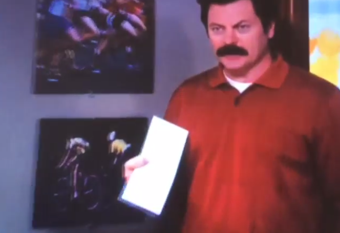 Ron Swanson has a letter to Canada on behalf of all Americans