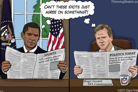 NFL Lockout Cartoon
