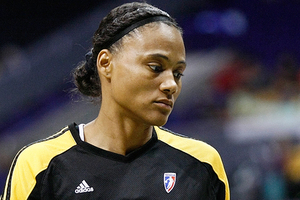 Guard Marion Jones was released from the Tulsa Shock who signed center Abi Olajuwon today. Photo by Craig Bennett/112575 Media.