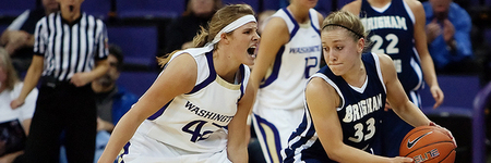 Despite the defensive tenacity of players like University of Washington guard Sara Mosiman, their