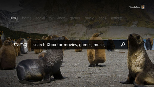 Xbox Live TV dashboard