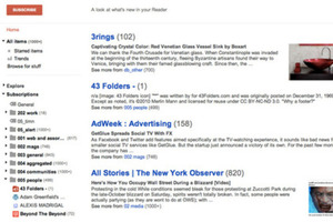 google reader redesign
