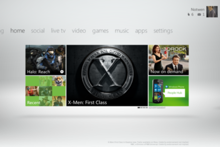 Xbox Live Fall 2011 Dashboard home