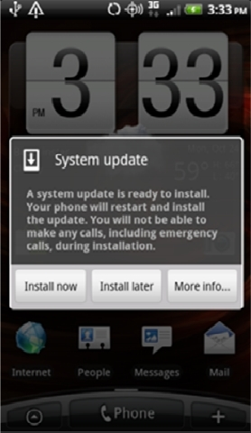 Droid Incredible Gingerbread Update