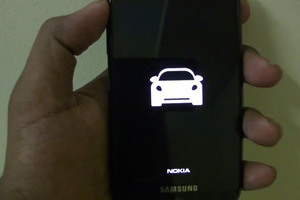 Nokia Drive running on a Samsung Focus