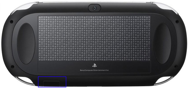 PlayStation Vita Memory Card slot