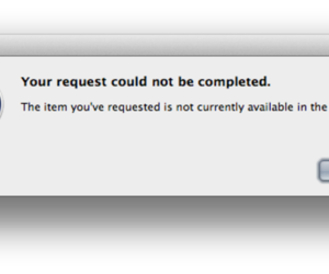iTunes error