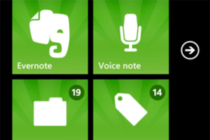Evernote WP7 Tiles