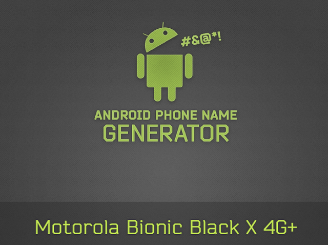 Android Phone Name Generator