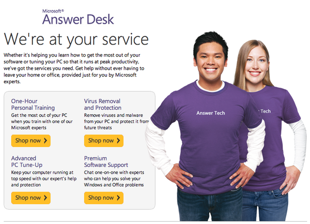 Microsoft Answer Desk