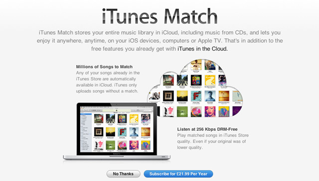 itunes match uk