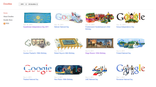 Google Doodles Site