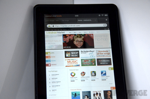 Kindle Fire gets Android Market browser access, but just for looking