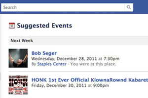 Facebook Suggested Events