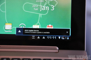 Asus Transformer Prime firmware update alert