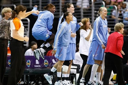 Carol Ross (far left), who has been behind the success of the Atlanta Dream over the past three seasons as an assistant, has been selected=