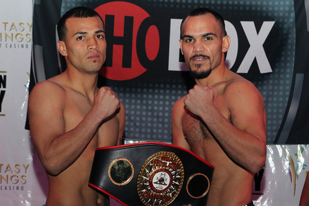 Luis Ramos Jr takes a test tonight against Raymundo Beltran. (Photo by Tom Casino/Showtime)