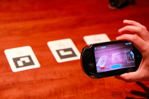 Gallery Photo: PlayStation Vita augmented reality soccer hands-on pictures