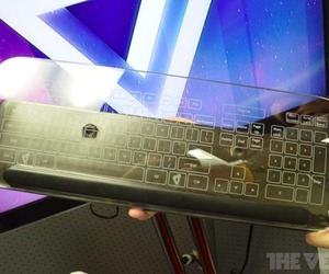 Gallery Photo: Glass Multitouch Keyboard hands-on pictures