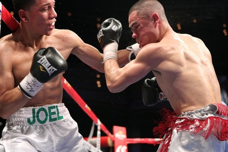 Joel Diaz and Guy Robb put on the fight of the weekend on ShoBox. (Photo by Tom Casino/Showtime)