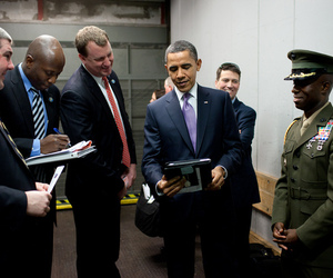 Obama with an iPad
