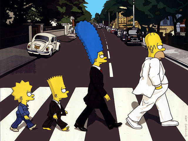 abbey road simpsons 640