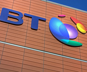 BT Broadband Logo Building