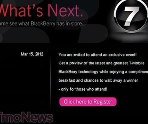 T-mobile blackberry invite
