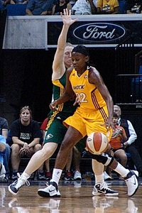 Has Sheryl Swoopes played her last WNBA game? (courtesy of Troy Littledeer)