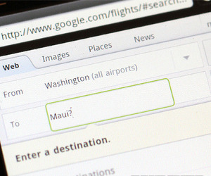 Google Flight search for mobile
