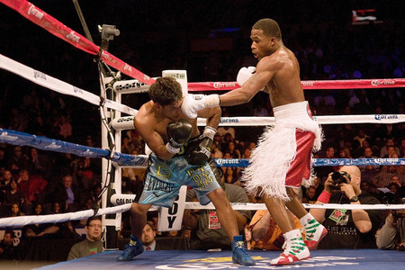 Adrien Broner dominated Eloy Perez tonight in St. Louis. (Photo by Jeff Curry-US PRESSWIRE)