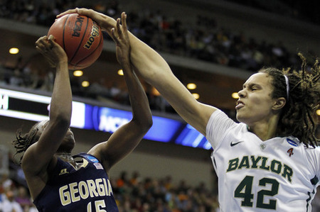 Baylor Lady Bears center Brittney Griner is obviously a prolific shot blocker, but her impact on the game can be quantified in other ways as well. Matt Ryerson-US PRESSWIRE