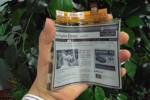 LG flexible e-paper display stock press 550