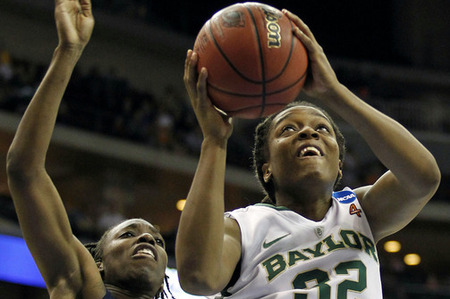 Although Brittney Griner is unquestionably the Baylor Lady Bears' MVP, Brooklyn Pope's (above) work on the offensive boards is a key part of their success. Matt Ryerson-US PRESSWIRE