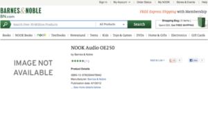 nook audio product page