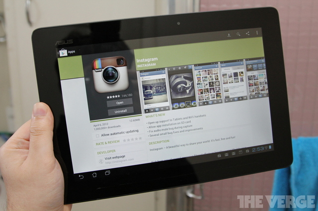 Instagram Android Tablet 1024 stock