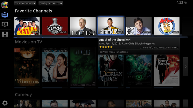 Google TV TV & Movies Favorite Channels