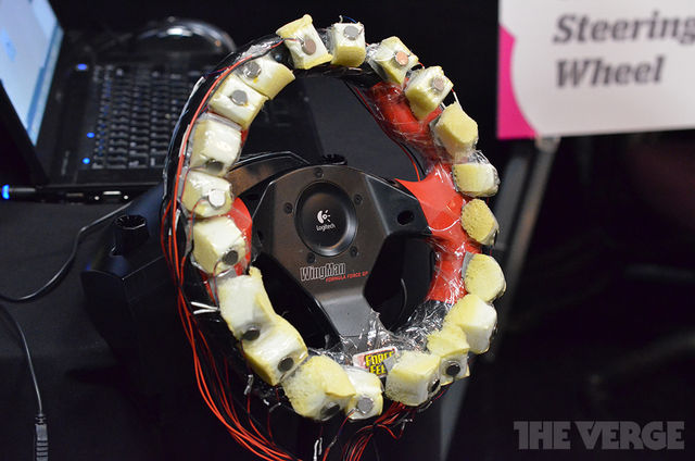 Gallery Photo: AT&T Labs haptic feedback steering wheel prototype (hands-on pictures)