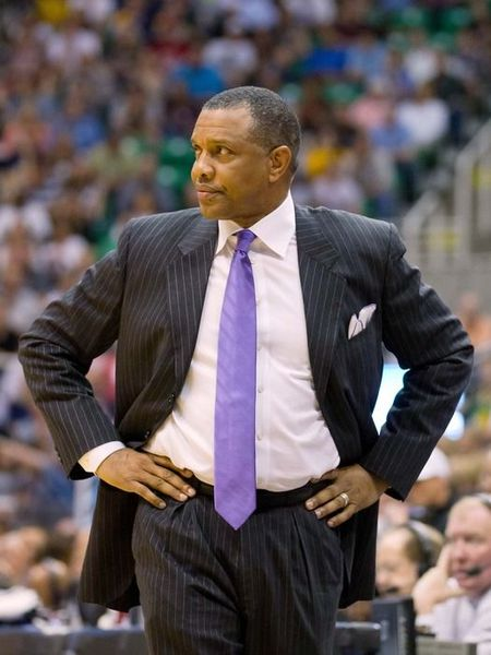 April 24, 2012; Salt Lake City, UT, USA; Phoenix Suns head coach Alvin Gentry during the first quarter against the Utah Jazz at Energy Solutions Arena. Mandatory Credit: Russ Isabella-US PRESSWIRE
