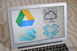Google Drive, iCloud,Dropbox, Skydrive logos