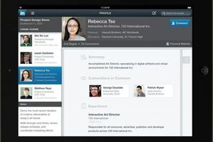 Gallery Photo: LinkedIn for iPad press images