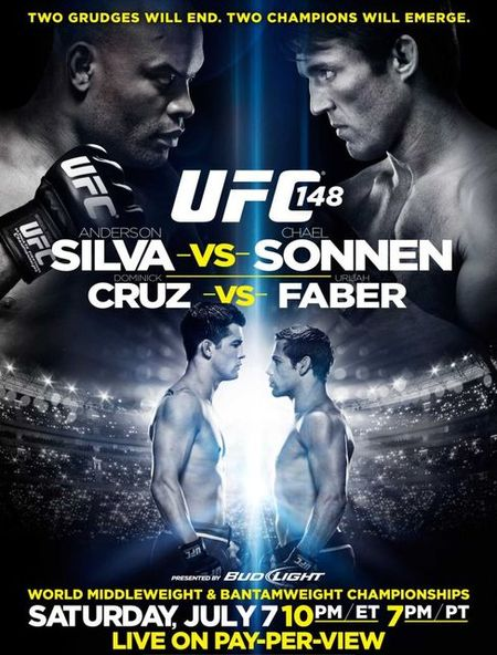 UFC 148 poster for &quot;Silva vs. Sonnen 2&quot; at the MGM Grand Garden Arena in Las Vegas, Nevada, on July 7, 2012.