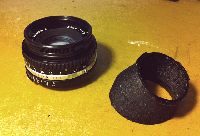 3D printed tilt-shift adapter