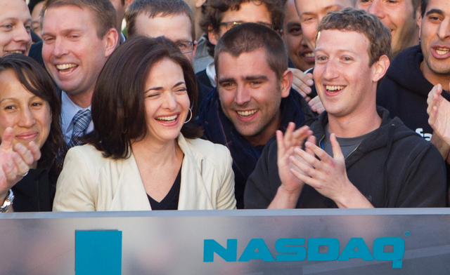 Happy Zuckerberg and Sandberg