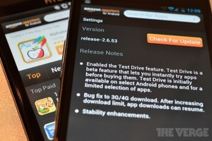Amazon Test Drive Android
