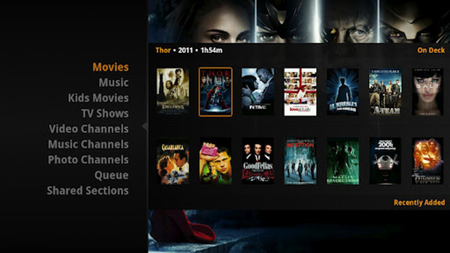 Plex for Sony Google TV 512x288