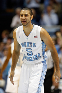 CHAPEL HILL, NC - DECEMBER 21:  Kendall Marshall #5 of the North Carolina Tar Heels smiles after a pass against the Texas Longhorns during their game at Dean Smith Center on December 21, 2011 in Chapel Hill, North Carolina.  (Photo by Streeter Lecka/Getty Images)